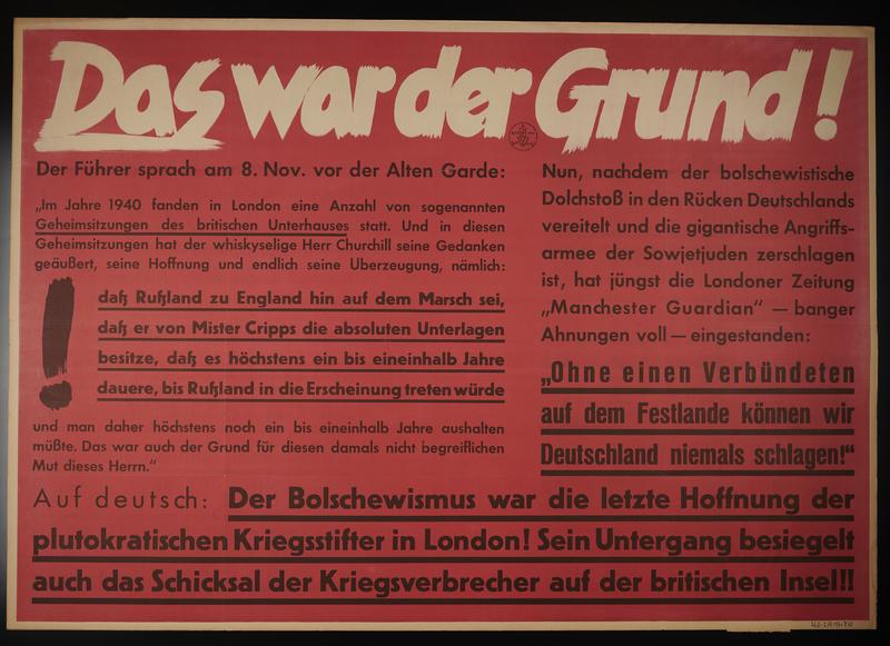 1995.96.110 front Nazi propaganda poster