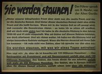 1995.96.112 front Nazi propaganda poster  Click to enlarge
