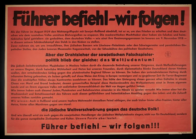 1995.96.122 front Nazi propaganda poster