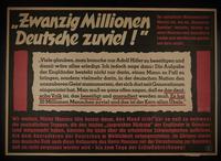 1995.96.125 front Nazi propaganda poster  Click to enlarge