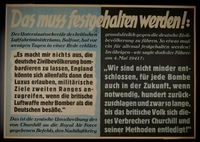 1995.96.127 front Nazi propaganda poster  Click to enlarge