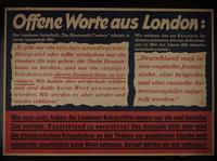 1995.96.128 front Nazi propaganda poster  Click to enlarge