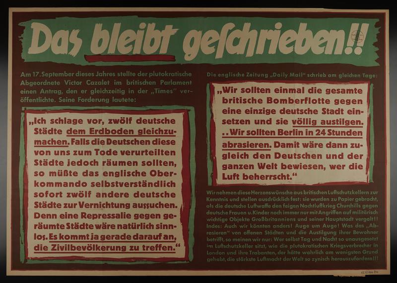 1995.96.13 front Nazi propaganda poster