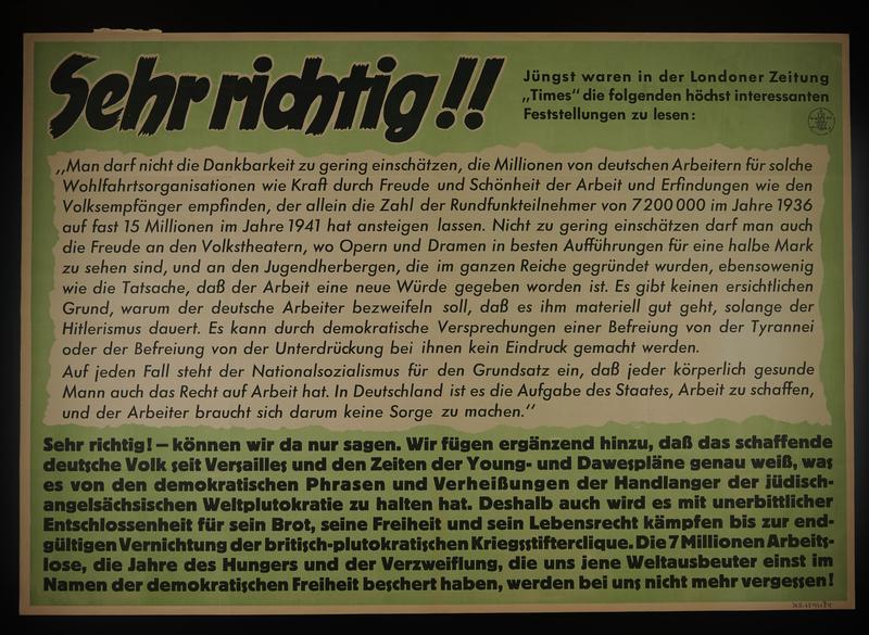 1995.96.130 front Nazi propaganda poster