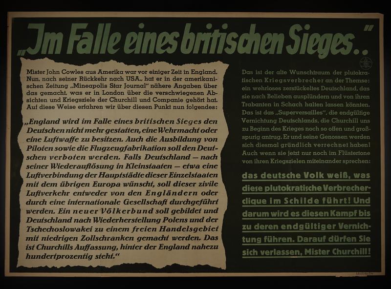 1995.96.134 front Nazi propaganda poster