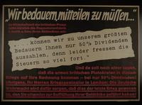 1995.96.143 front Nazi propaganda poster  Click to enlarge