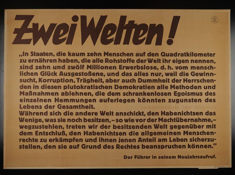 1995.96.144 front Nazi propaganda poster