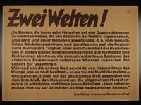 1995.96.144 front Nazi propaganda poster  Click to enlarge