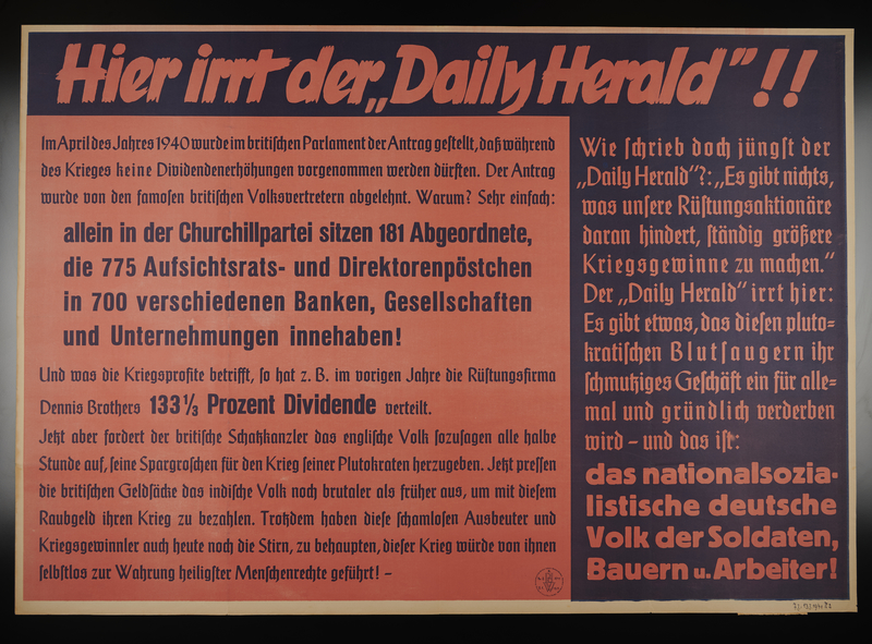 1995.96.146 front Nazi propaganda poster