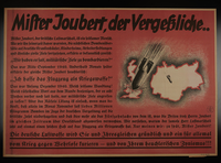 1995.96.147 front Nazi propaganda poster  Click to enlarge