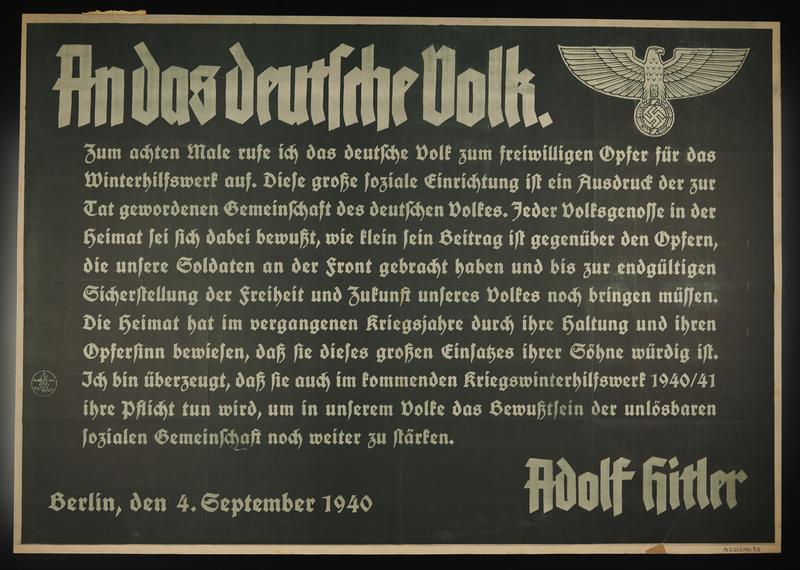 1995.96.15 front Nazi propaganda poster