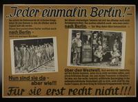 1995.96.150 front Nazi propaganda poster  Click to enlarge