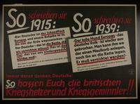 1995.96.151 front Nazi propaganda poster  Click to enlarge