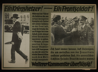 1995.96.152 front Nazi propaganda poster  Click to enlarge