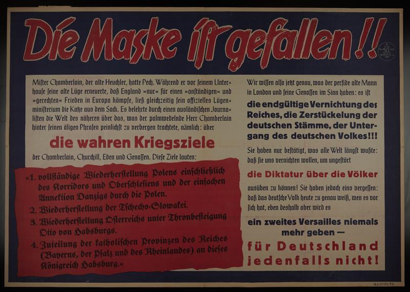 1995.96.153 front Nazi propaganda poster