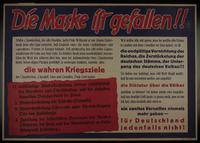 1995.96.153 front Nazi propaganda poster  Click to enlarge