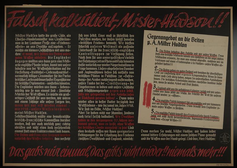 1995.96.154 front Nazi propaganda poster