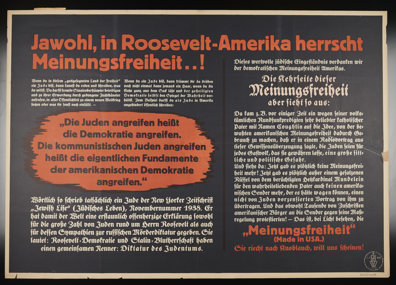 1995.96.157 front Nazi propaganda poster