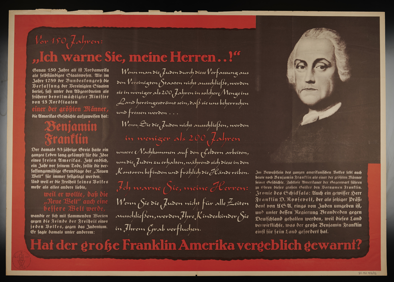 1995.96.159 front Nazi propaganda poster
