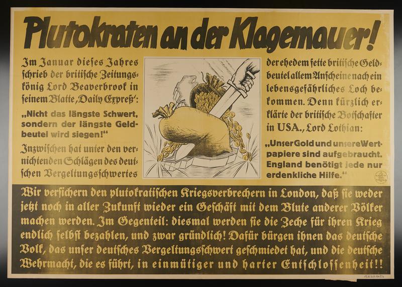 1995.96.2 front Nazi propaganda poster