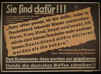 1995.96.20 front Nazi propaganda poster  Click to enlarge