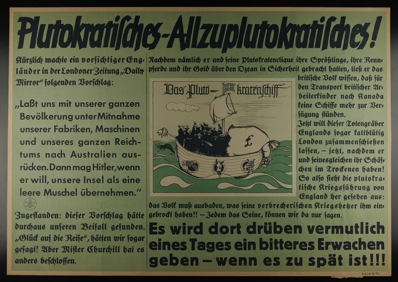 1995.96.22 front Nazi propaganda poster