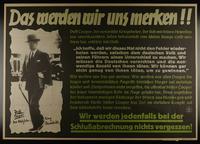 1995.96.24 front Nazi propaganda poster  Click to enlarge