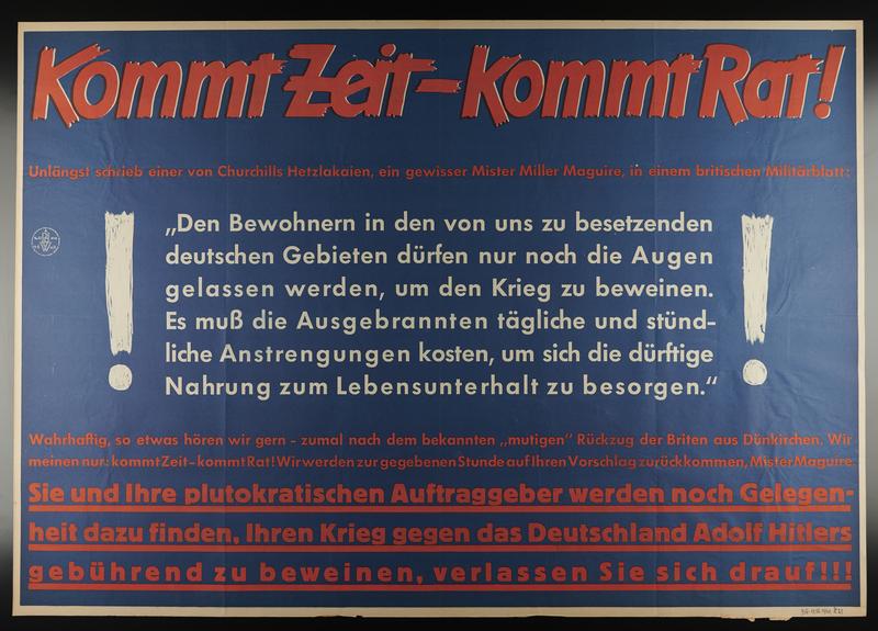 1995.96.25 front Nazi propaganda poster