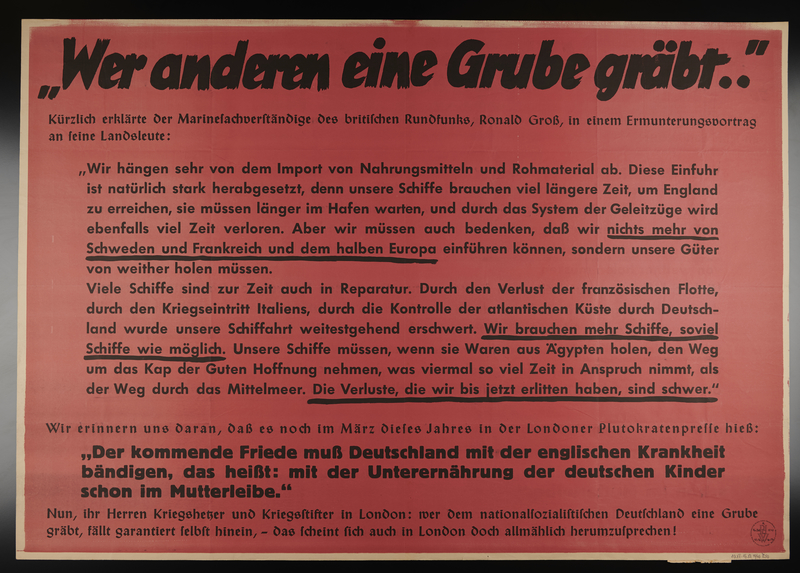1995.96.3 front Nazi propaganda poster