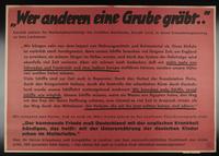 1995.96.3 front Nazi propaganda poster  Click to enlarge