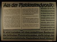 1995.96.31 front Nazi propaganda poster  Click to enlarge