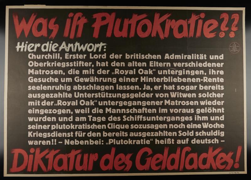 1995.96.41 front Nazi propaganda poster