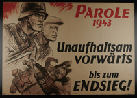 1995.96.52 front German Word of the Week propaganda poster declaring the inevitability of victory  Click to enlarge