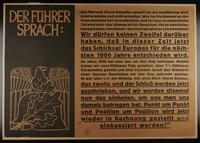 1995.96.53 front Nazi propaganda poster  Click to enlarge