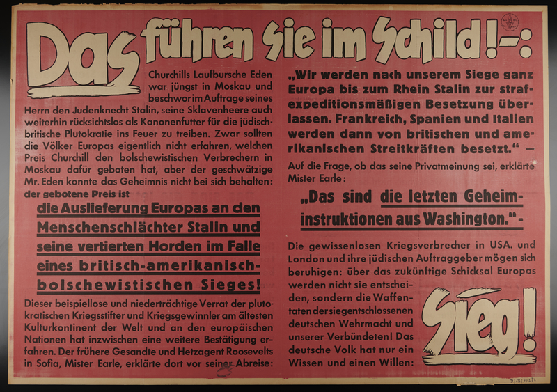 1995.96.56 front Nazi propaganda poster