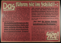 1995.96.56 front Nazi propaganda poster  Click to enlarge