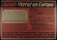1995.96.57 front Text only Nazi propaganda poster denouncing Churchill  Click to enlarge