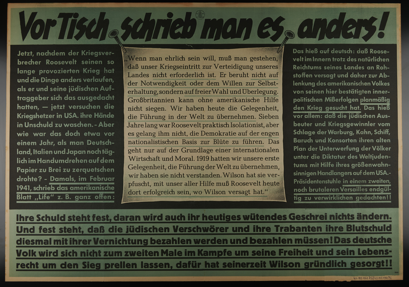 1995.96.58 front Nazi propaganda poster