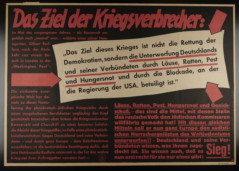 1995.96.59 front Nazi propaganda poster