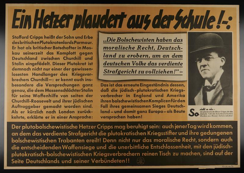 1995.96.60 front Nazi propaganda poster