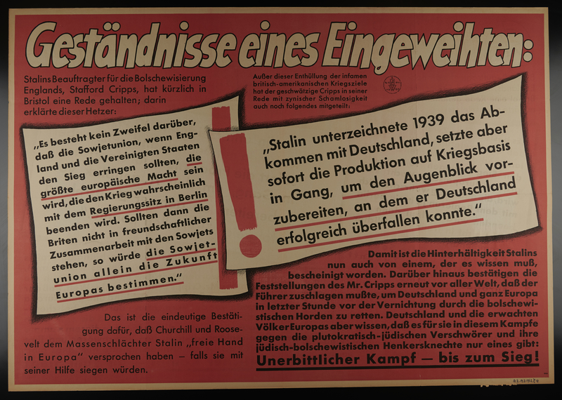 1995.96.63 front Nazi propaganda poster