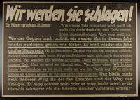 1995.96.64 front Nazi propaganda poster  Click to enlarge
