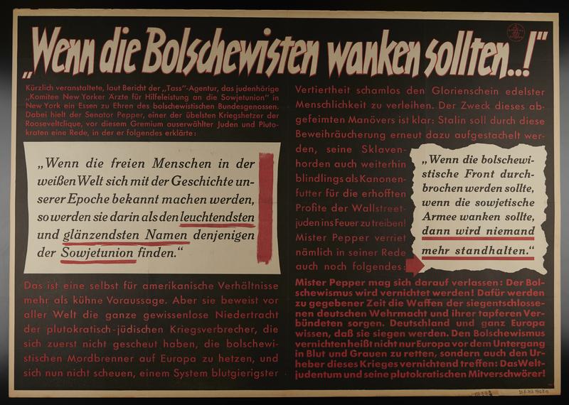 1995.96.65 front Nazi propaganda poster