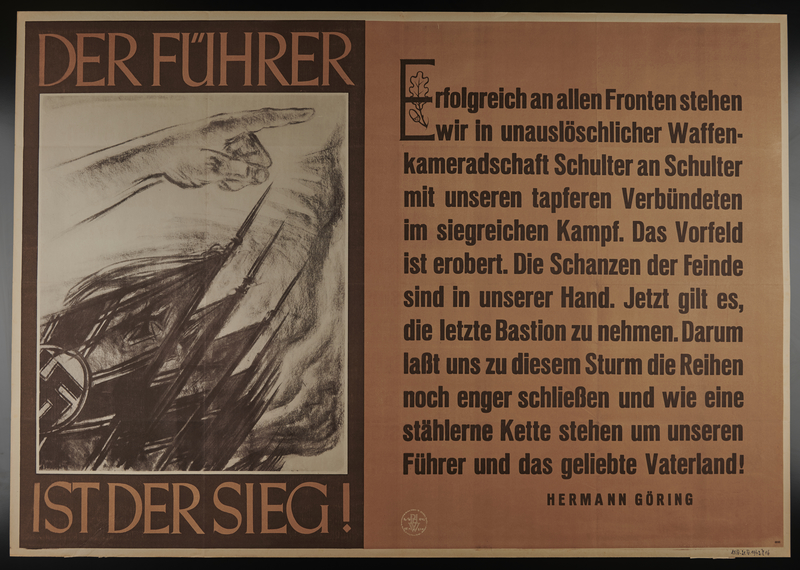 1995.96.67 front Nazi propaganda poster