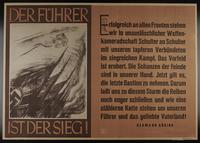 1995.96.67 front Nazi propaganda poster  Click to enlarge