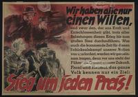 1995.96.69 front Nazi propaganda poster  Click to enlarge