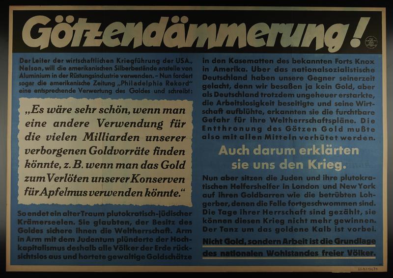 1995.96.70 front Nazi propaganda poster