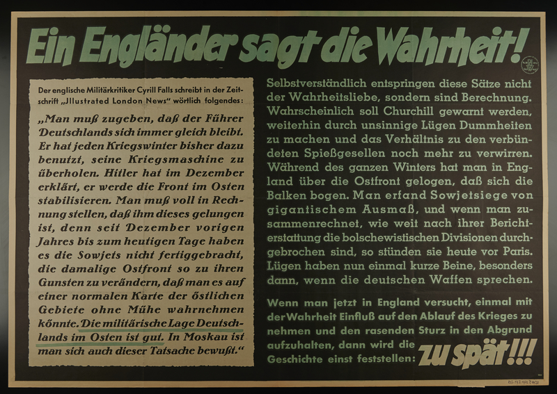 1995.96.71 front Nazi propaganda poster