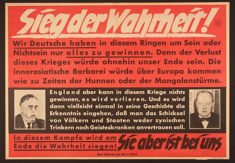 1995.96.73 front Nazi propaganda poster