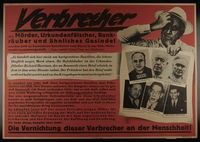 1995.96.75 front Nazi propaganda poster  Click to enlarge